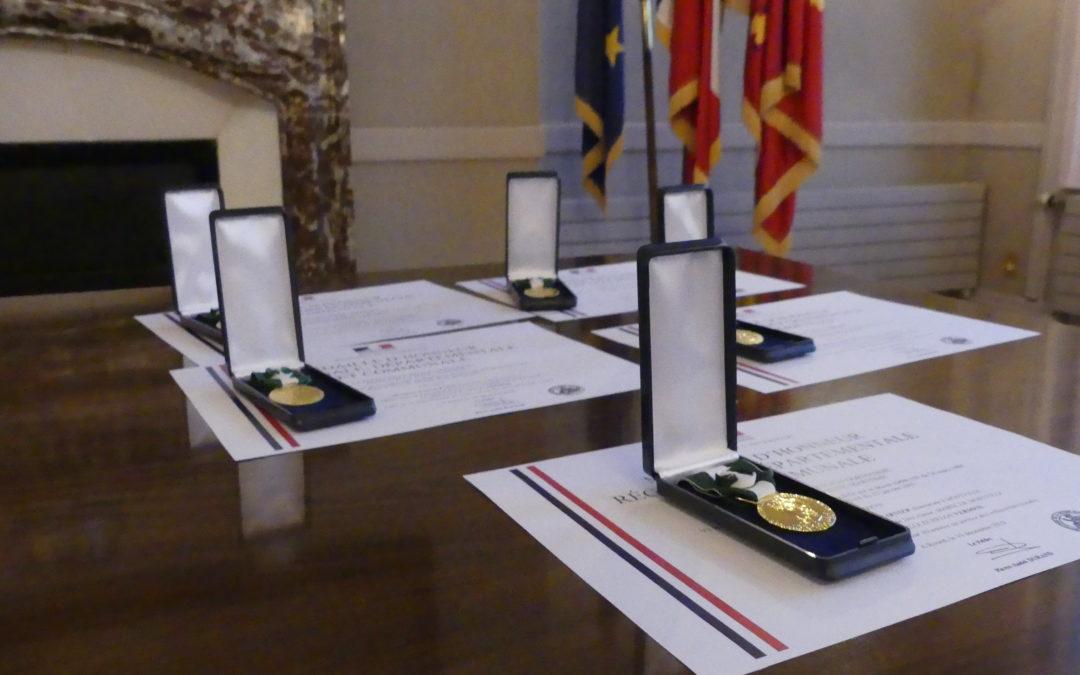 Remise des Médailles d'honneur du travail, promotion de Janvier 2020