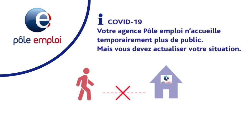 INFOS COVID-19 : N'oubliez pas de vous actualiser sur Pôle Emploi