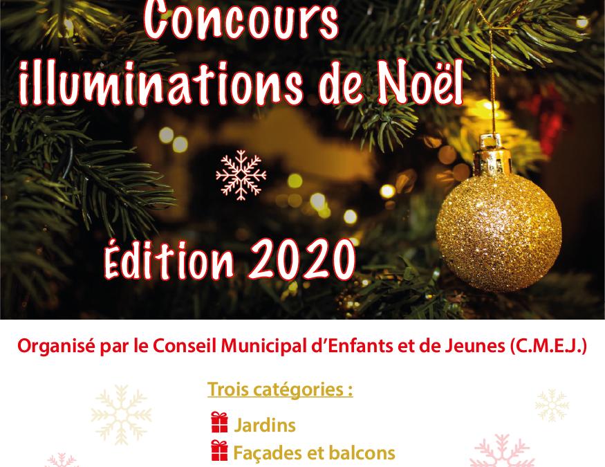 Concours des maisons illuminées de Noël, édition 2020